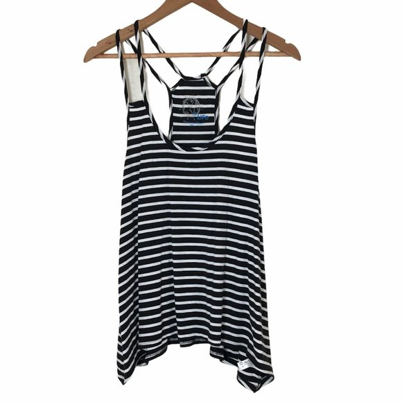 Planet Blue Strappy Racerback Tank Top XS NEW NWOT